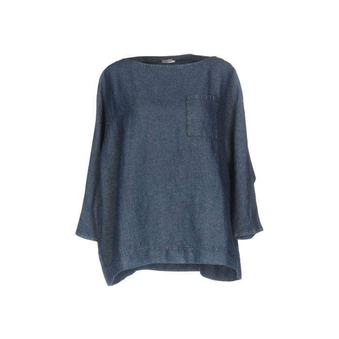 Image for Rossopuro Woman Blue Denim shirts