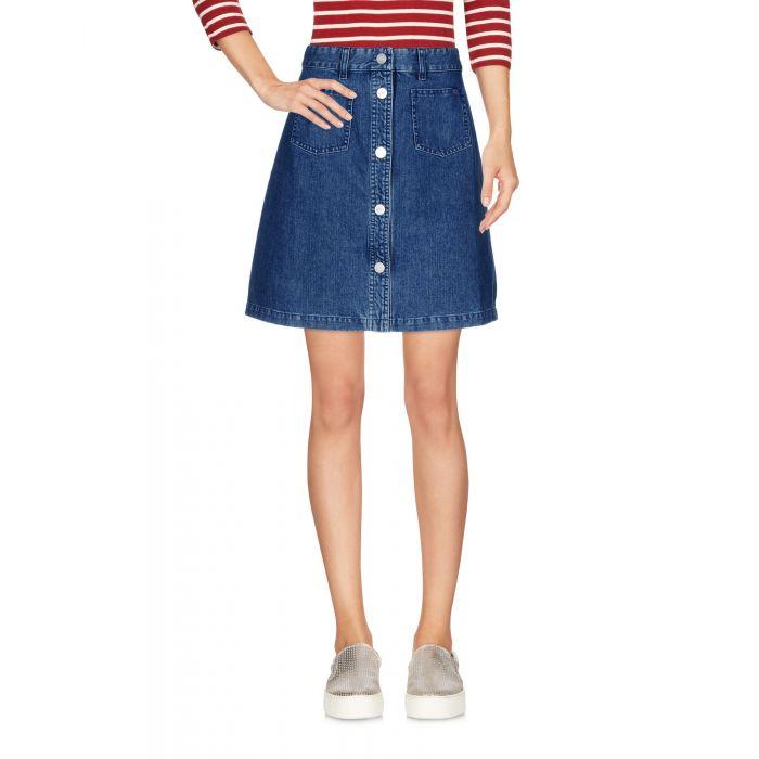 Image for Blue cotton denim skirt
