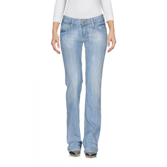 Image for Blue pure cotton light wash low-rise jeans