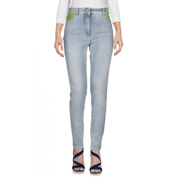 Image for Blue cotton denim low-rise trousers