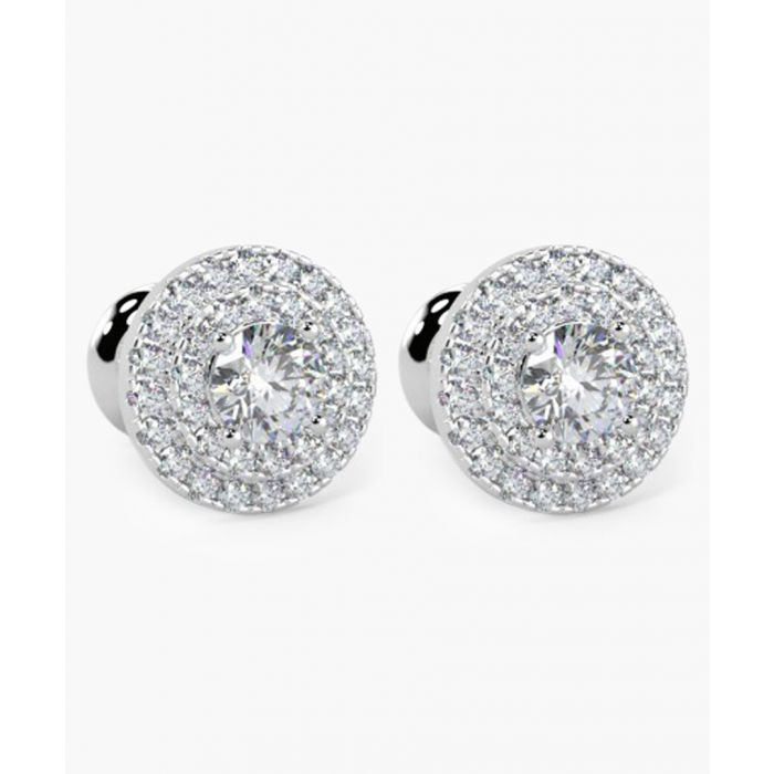 Image for 9k white gold and 0.60ct diamond earrings