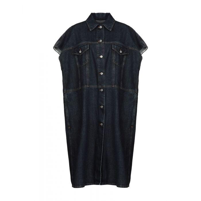 Image for Mm6 Maison Margiela Blue Cotton Capispalla jeans