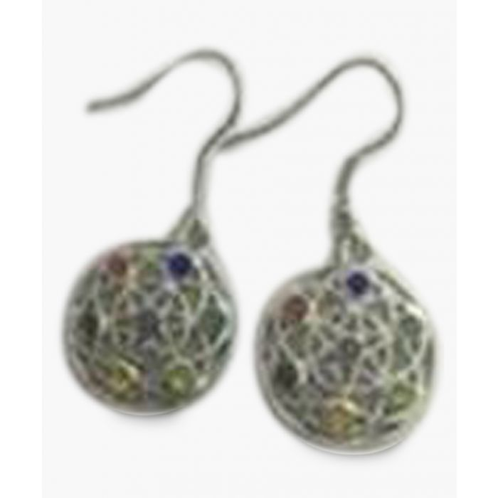 Image for Multi-coloured crystal Chakra earrings