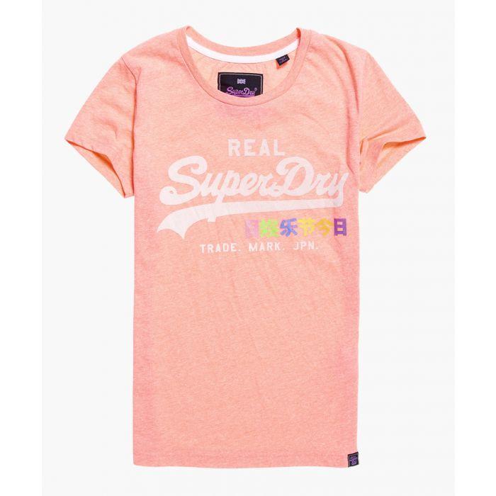 Image for Vintage Logo Neon Pop pink cotton blend entry T-shirt