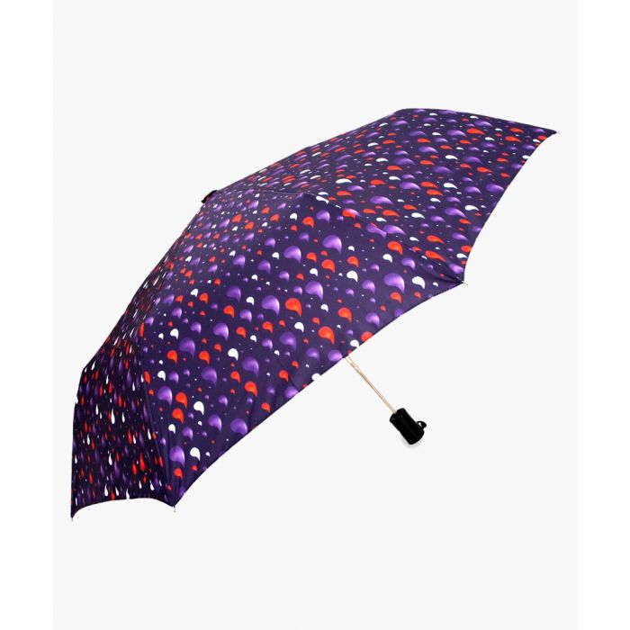 Image for Navy rain drops printed umbrella