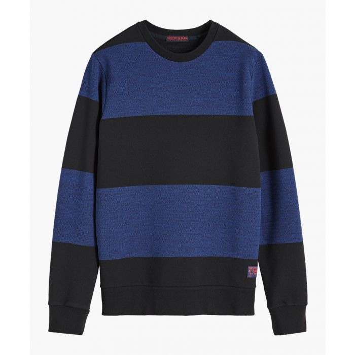 Image for Multi-coloured cotton-blend crew neck jumper