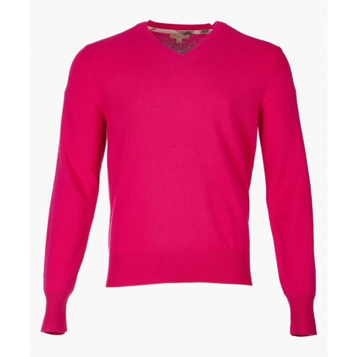 Image for red pure cashmere jumper