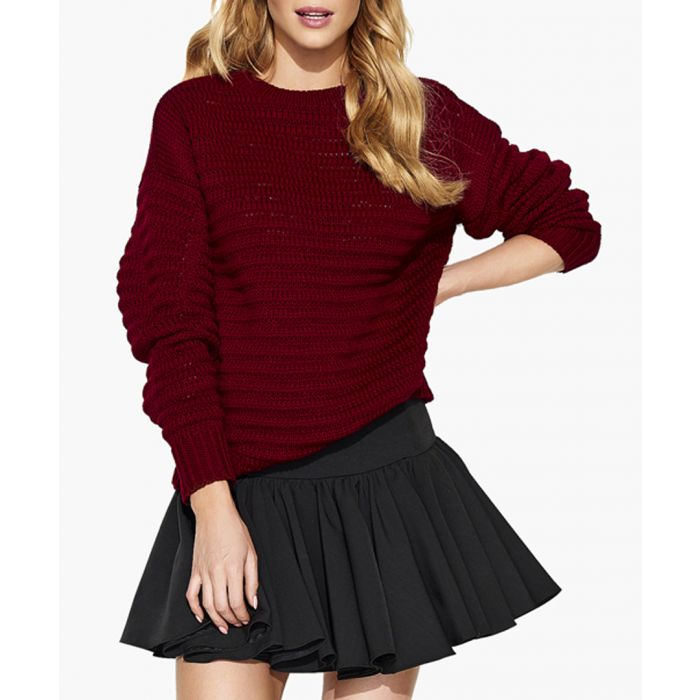 Image for Maroon knitted sweater