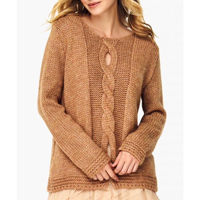 Image for Camel wool blend jumper