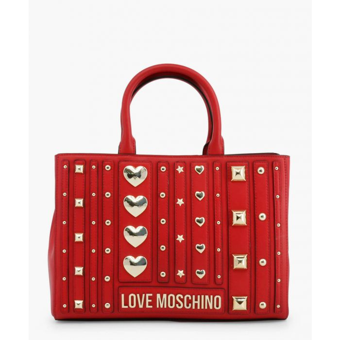 Image for Red faux-leather grab bag