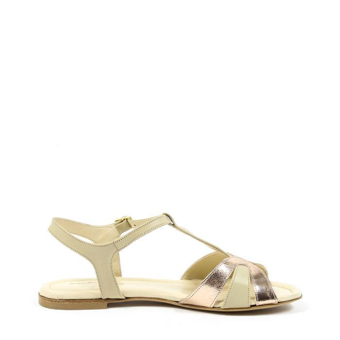Image for Beige leather sandals