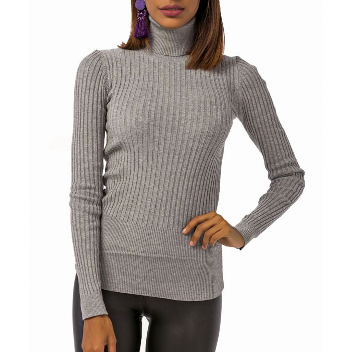 Image for Grey turtle neck knit sweater