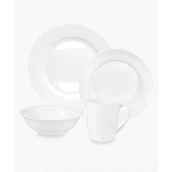 Image for 16pc Serendipity plain white bone china set