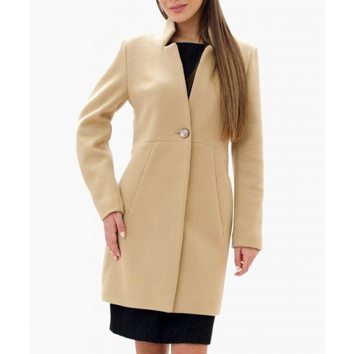 Image for Camel Wool Blend Coat