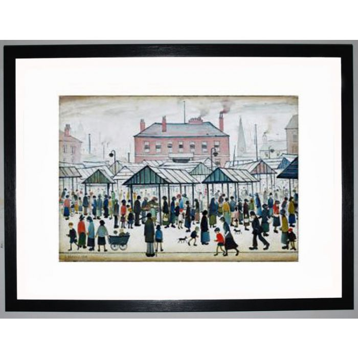 Image for Market Scene, Northern Town, 1939 by L.S. Lowry