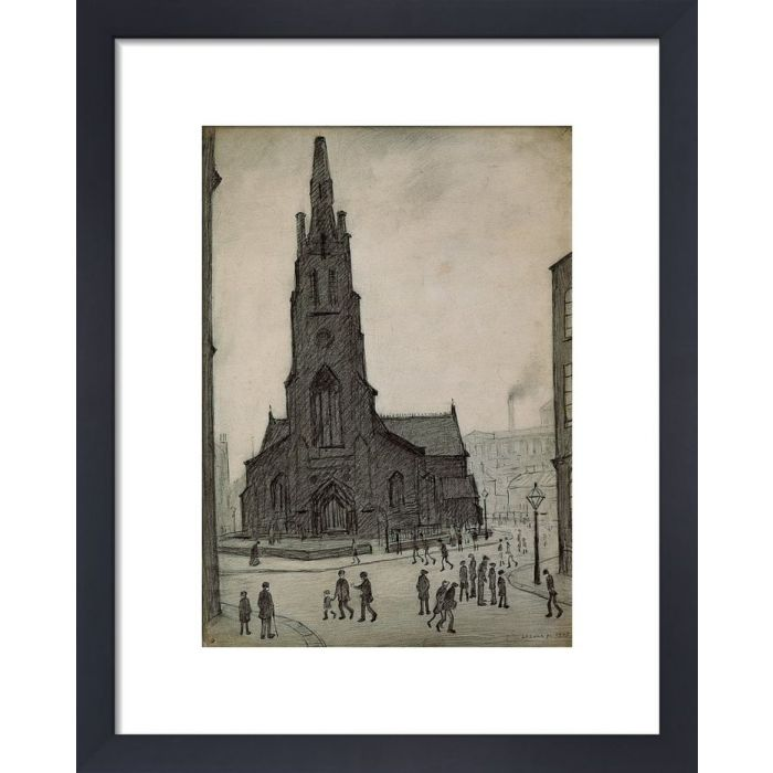 Image for Street Scene (St Simon's Church), 1927 by L.S. Lowry