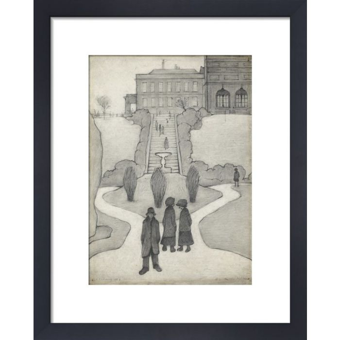 Image for The Steps, Peel Park, Salford, 1930 by L.S. Lowry