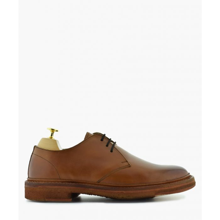 Image for Crockett tan leather Derby shoes