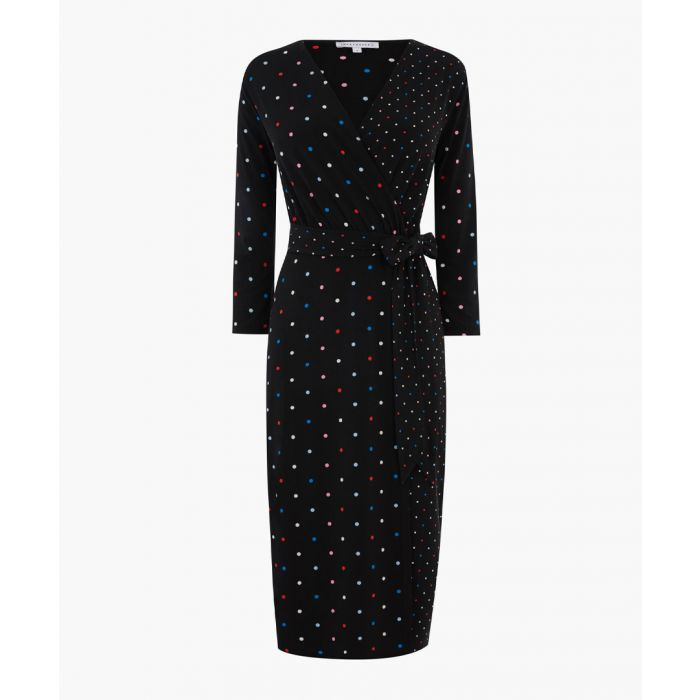 Image for Multicolour spot wrap dress
