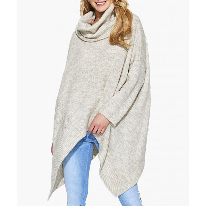 Image for Beige melange mohair and wool blend knitted sweater