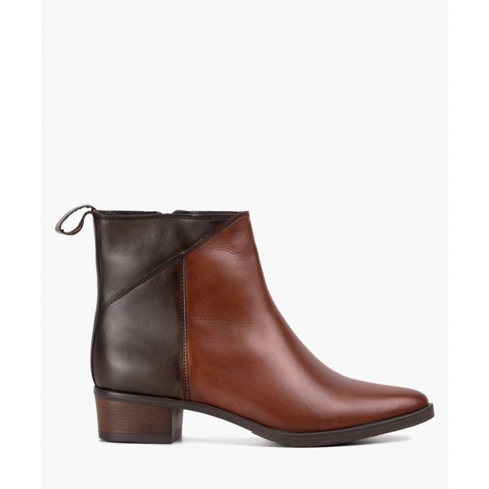 Image for Tan brown pointed toe ankle boots