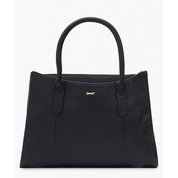 Image for Musas black leather shopper