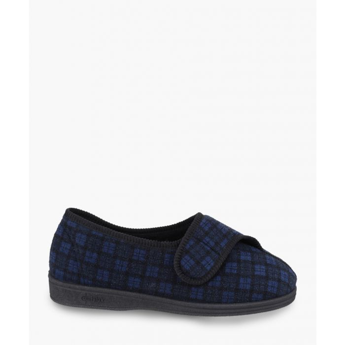 Image for Mens navy slippers
