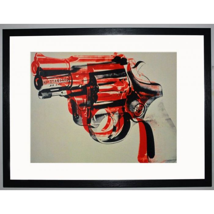 Image for Gun, c.1981-82 (black and red on white) by Andy Warhol
