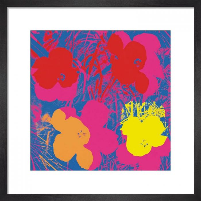 Image for Flowers c.1964 ( red, yellow, orange on blue) by Andy Warhol