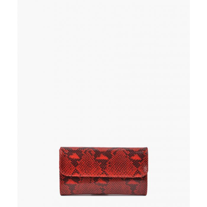 Image for Red leather clutch