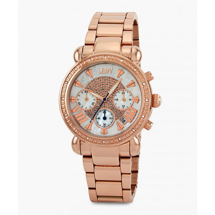 Image for Victory 18k rose gold-plated stainless steel watch