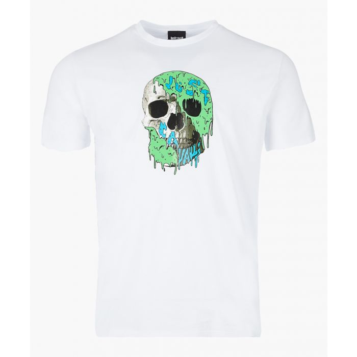 Image for White cotton skull print T-shirt