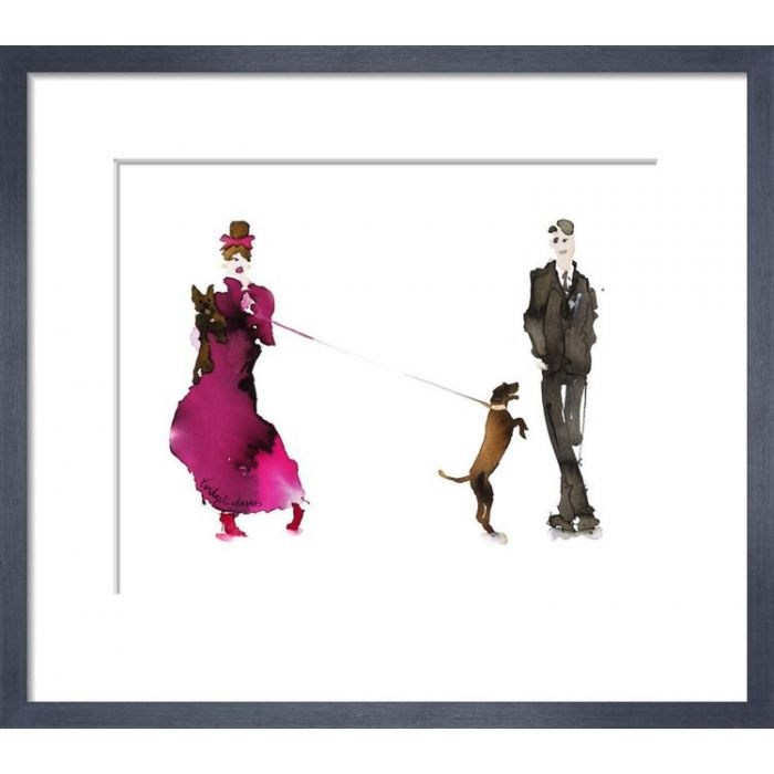 Image for What to Wear When Walking the Dogs - Him & Her (Pink Dress & Bow) by Bridget Davies