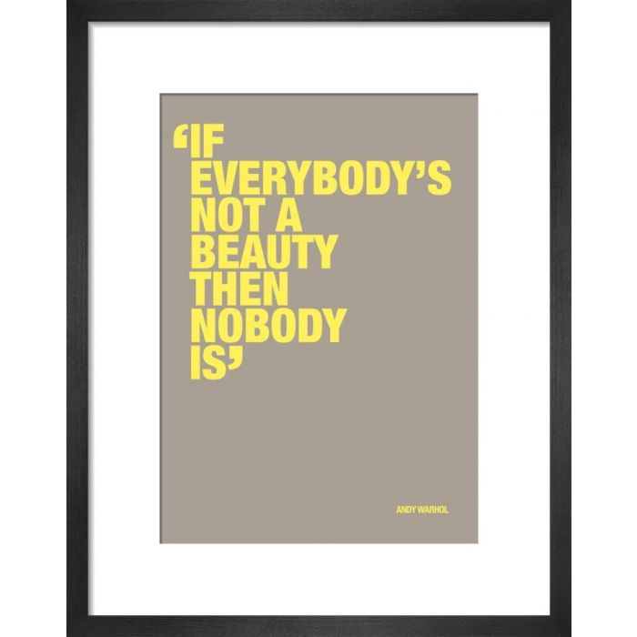 Image for Not a beauty by Andy Warhol