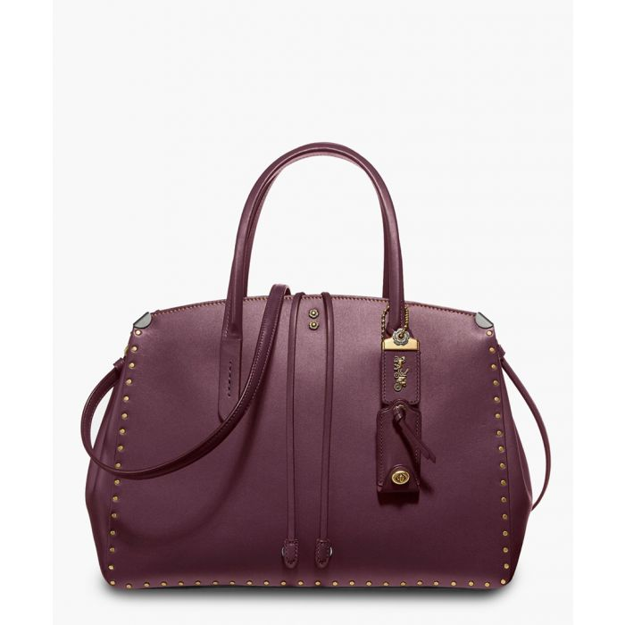 Image for Oxblood leather shoulder bag