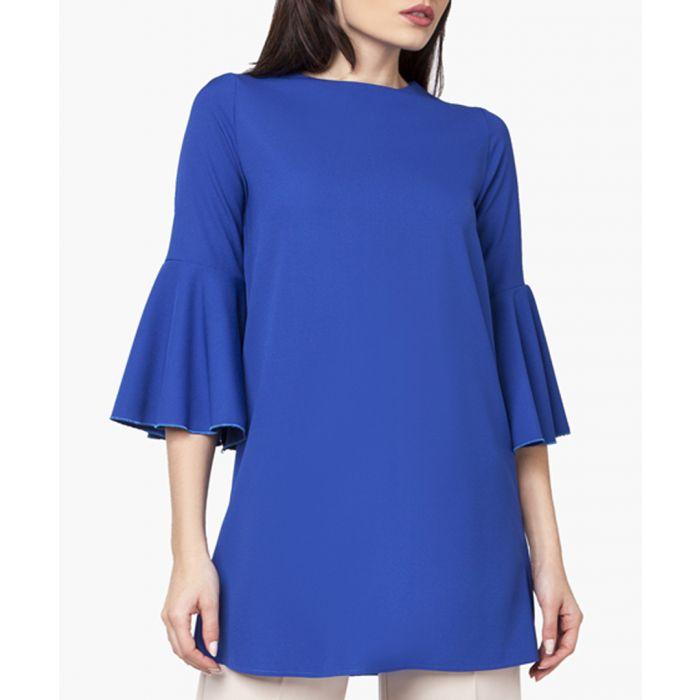 Image for Cobalt woven tunic shirt