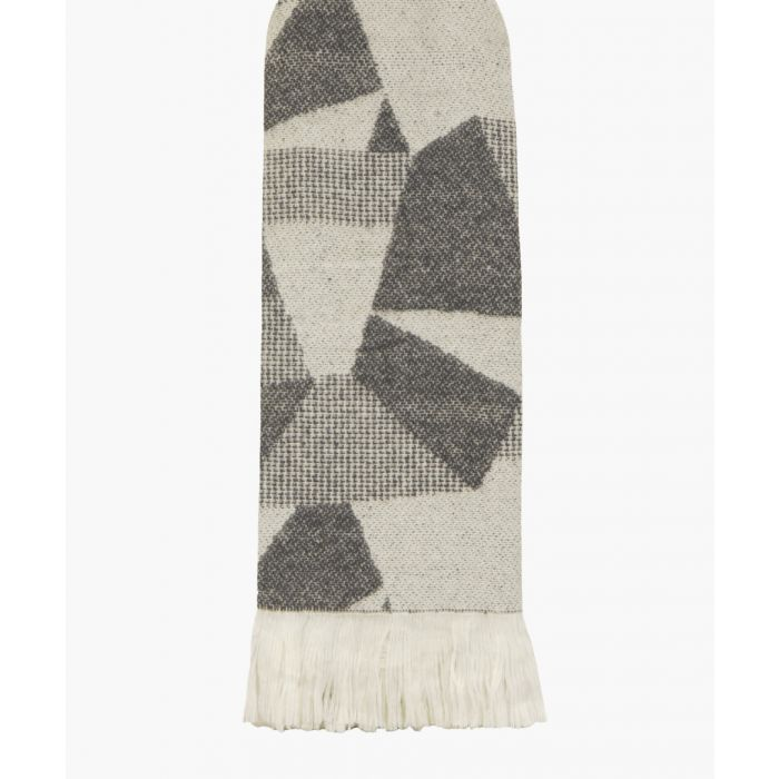 Image for Shard cotton grey throw