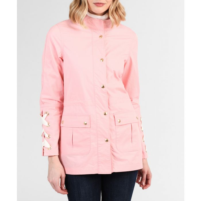 Image for Peach pure cotton criss-cross coat