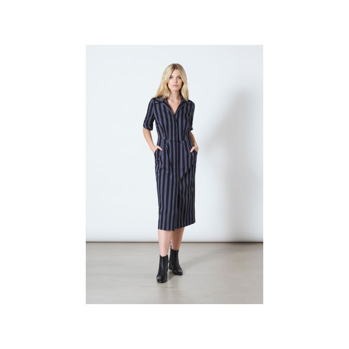 Image for Peyton Striped Shirt Dress - Blue