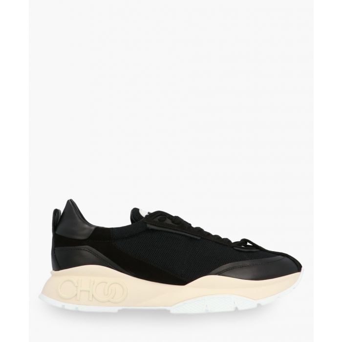 Image for Raine black neoprene and leather trainers