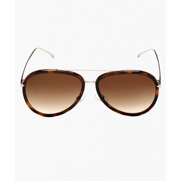 Image for Havana gold-tone and brown gradient sunglasses