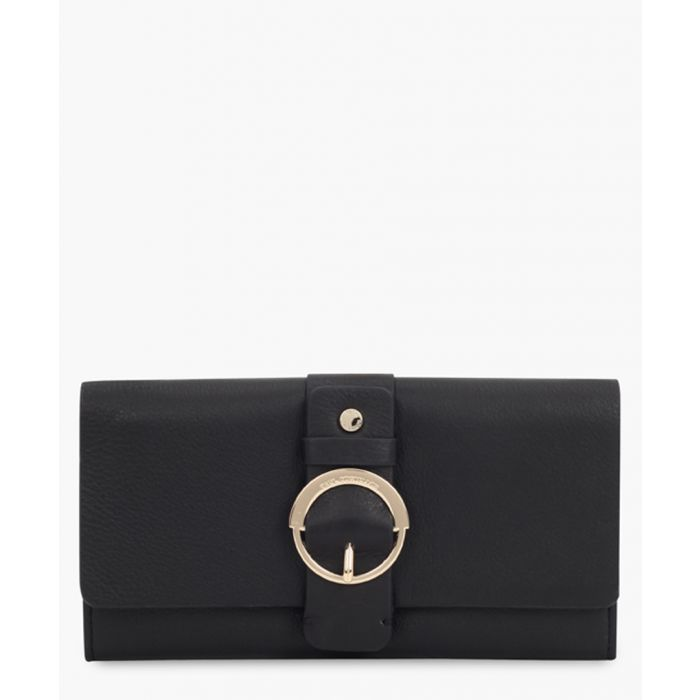 Image for Erie black leather purse