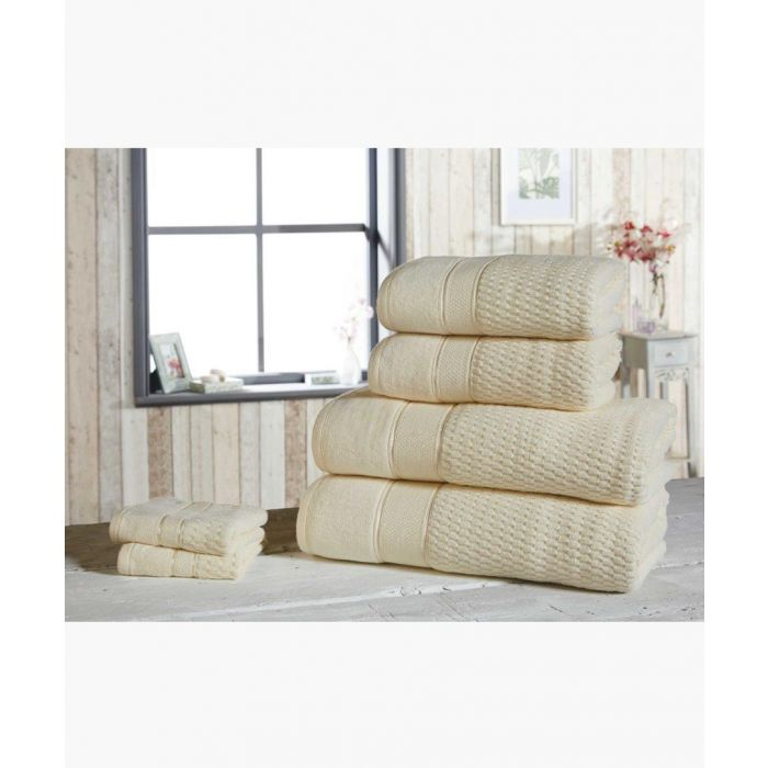 Image for 6pc cream cotton towels