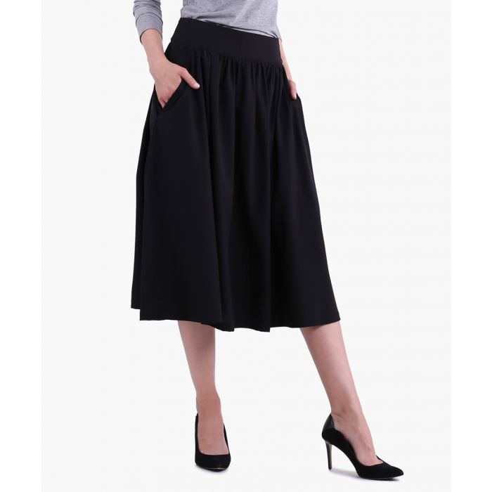 Image for Black woven skirt
