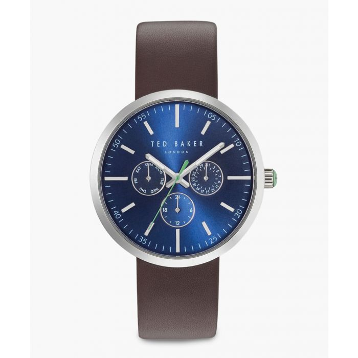 Image for Stainless steel and leather watch