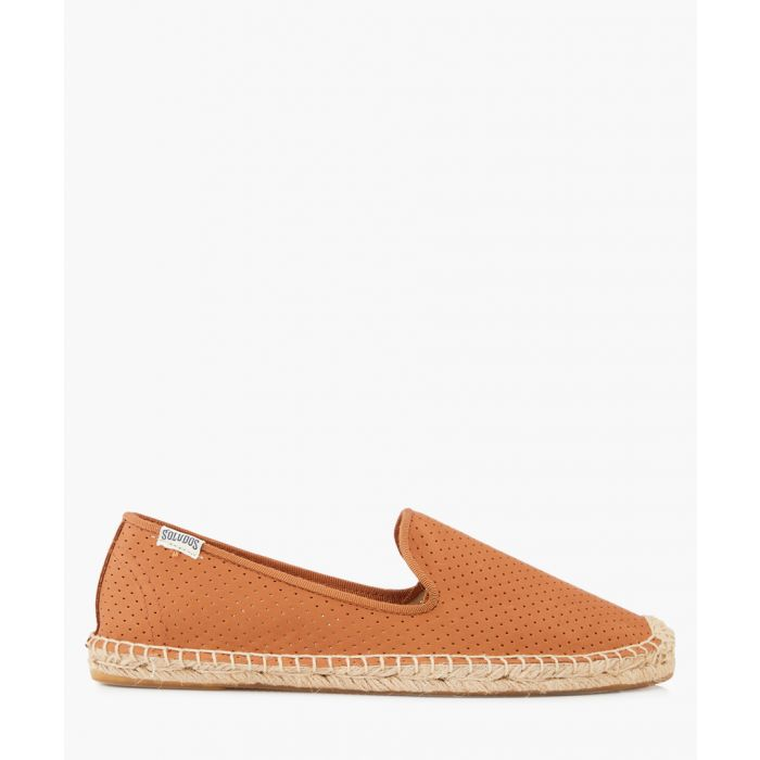 Image for Smoking leather perforated espadrilles