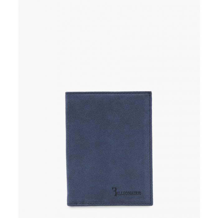 Image for Navy blue embossed logo wallet