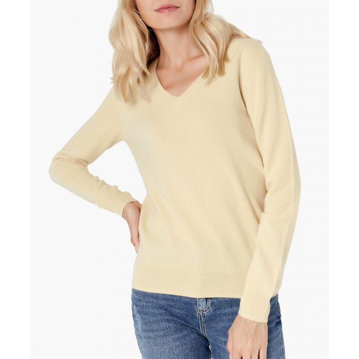 Image for Light yellow pure cashmere jumper