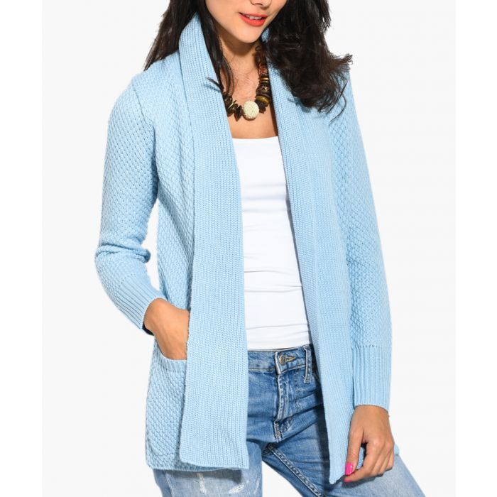 Image for Blue cashmere and mohair blend cardigan