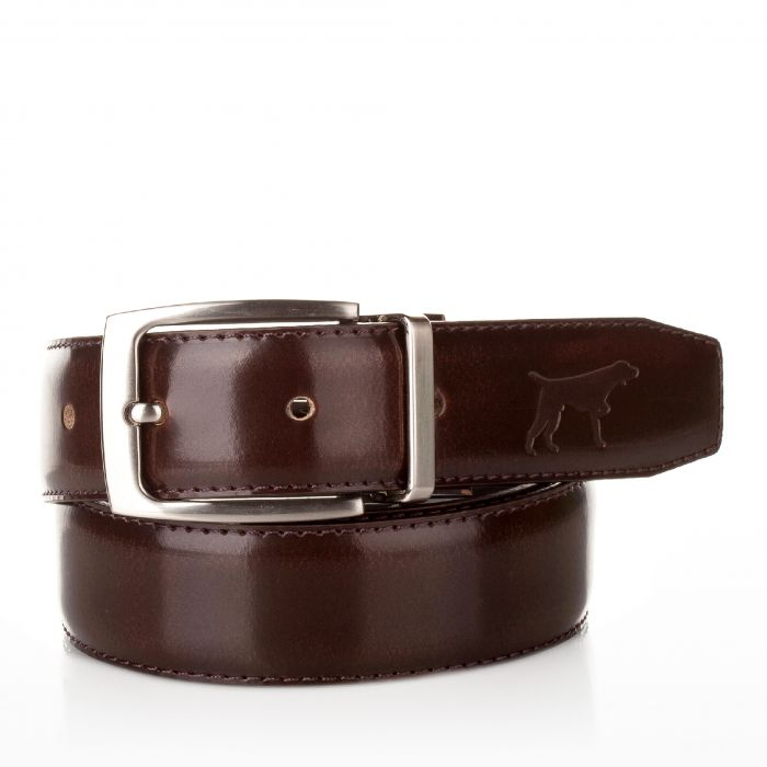 Image for Mens brown leather adjustable belt